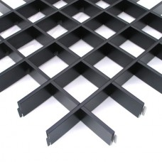 Потолок грильято Cesal Эконом черный 100х100х40 мм