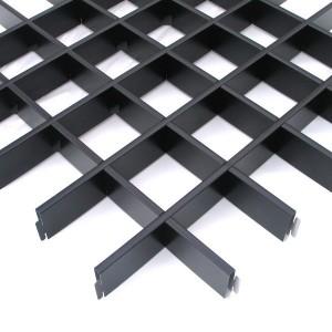 Потолок грильято Cesal Стандарт черный 100х100х40 мм