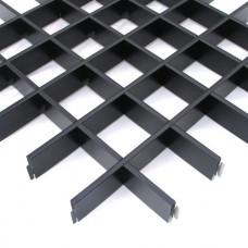 Потолок грильято Cesal Эконом черный 150х150х40 мм