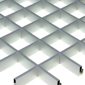 Потолок грильято Cesal Эконом металлик 100х100х40 мм