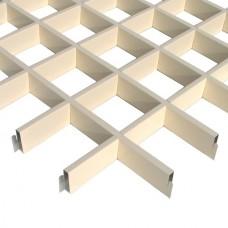 Потолок грильято Cesal Эконом светло-бежевый 150х150х40 мм