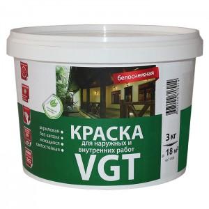 Краска для наружных и внутренних работ «Белоснежная» ВД-АК-1180