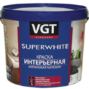 Краска акриловая для стен «Супербелая» ВД-АК-2180