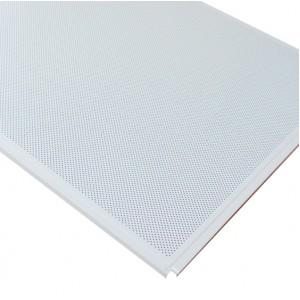 Кассетный потолок AP600 Line (Board) белый матовый А902 rus Эконом перф. с акуст.