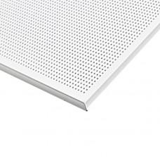 Кассетный потолок Strong Board 600х600 Zn 0,50 мм перф. белый матовый