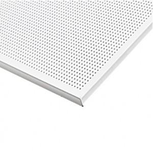 Кассетный потолок Strong Board 600х600 Zn 0,50 мм перф. с акуст. флисом белый матовый