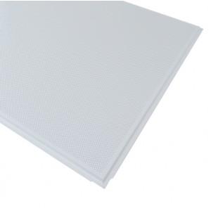 Кассетный потолок Strong Microlook 600х600 Т-15/90о Zn 0,50 мм перф. с акуст. флисом белый матовый