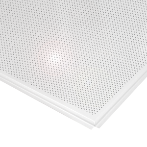 Кассетный потолок AP600A6/45°/Т-24 (AP600A6/90°/Т-24/(T-15)) белый глянец A916 rus перф.