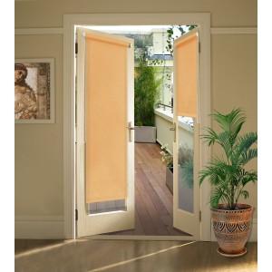 Миниролло на балконную дверь абрикос
