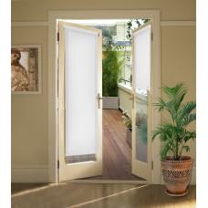 Миниролло на балконную дверь белые