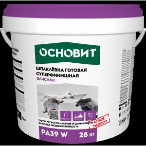 Шпаклевка готовая суперфинишная Основит Элисилк PA39 W 28 кг