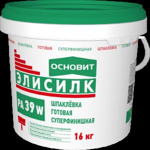 Шпаклевка готовая суперфинишная Основит Элисилк PA39 W 16 кг