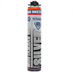 Пена монтажная «BAU MASTER» SILVER зимняя, профессиональная с выходом до 65 литров