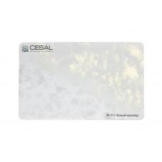 Потолок реечный Cesal S-дизайн 511 Белый мрамор