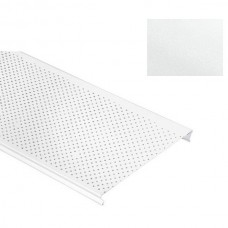 Потолок реечный Cesal S-100 Стандарт С01 жемчужно-белый с перфорацией