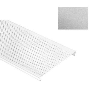 Потолок реечный Cesal S-100 Стандарт 3313 металик серебристый с перфорацией