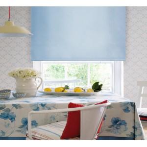 Рулонные шторы голубые