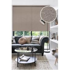 Рулонные шторы LUXE Морзе коричневые