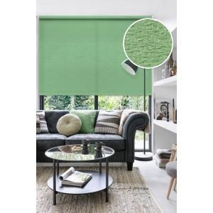 Рулонные шторы LUXE Морзе зеленые