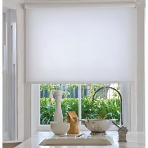 Рулонные шторы однотонные белые