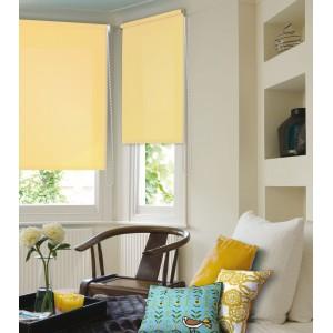 Рулонные шторы светло-желтые